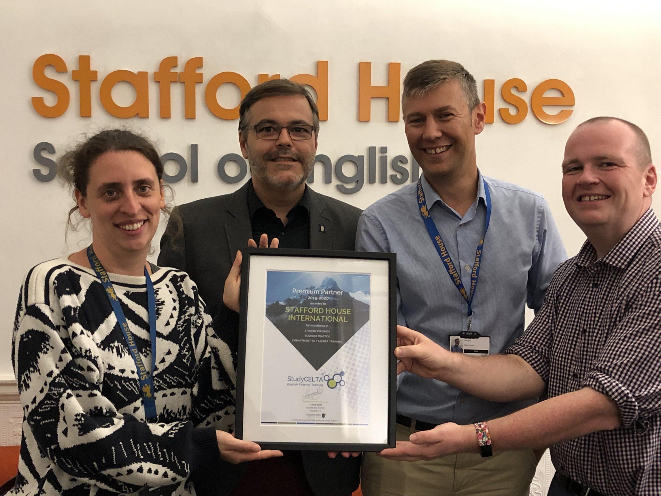 Stafford House Premium Partner Award